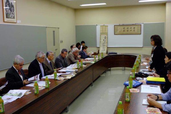 五戸町教育委員会での懇談会